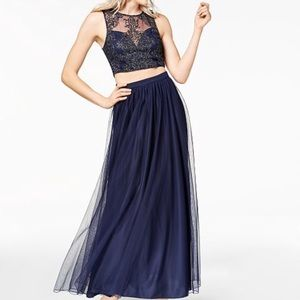 Two Piece Embellished Prom Dress // other event